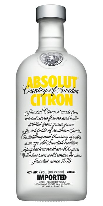 Absolut citron vodka 0,7l