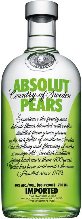 Absolut pears vodka 0,7l