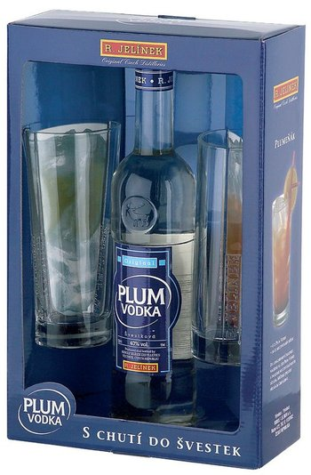 Plum vodka Original 0,5l + 2 skla