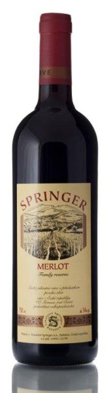 Springer Merlot výběr z hroznů 2015 0.75l