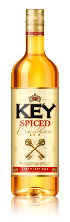 Key spiced Caribbean gold 1l