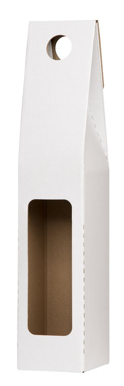 Papírová krabička na víno bílá,1 láhev