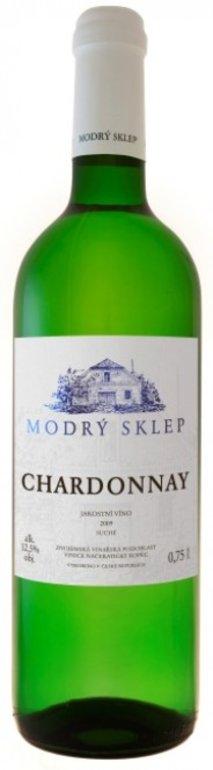 Modrý Sklep Chardonnay jakostní 2017 0.75l