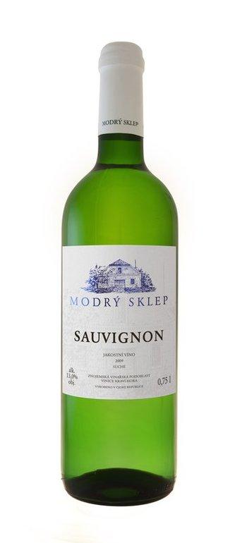 Modrý Sklep Sauvignon jakostní 2016 0.75l