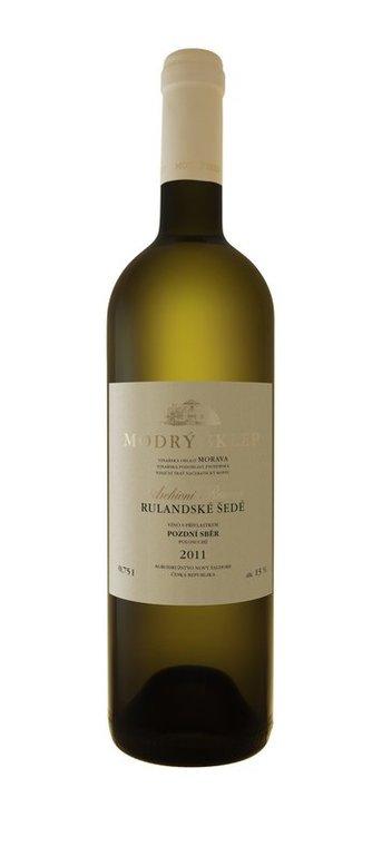 Modrý Sklep Rulandské šedé jakostní víno s přívlastkem 2015 0.75l