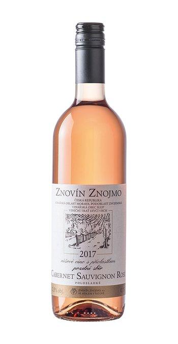 Znovín Znojmo Cabernet Sauvignon rosé pozdní sběr 2017 0.75l